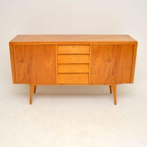 Satin Birch Sideboard Vintage 1950's