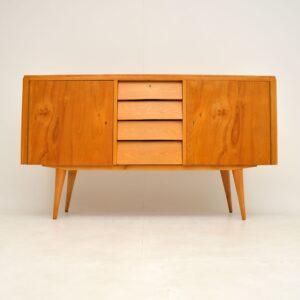retro vintage danish satin wood sideboard