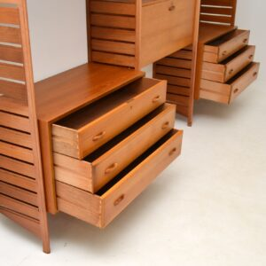 retro vintage teak ladderax by staples bookcase chest cabinets shelving