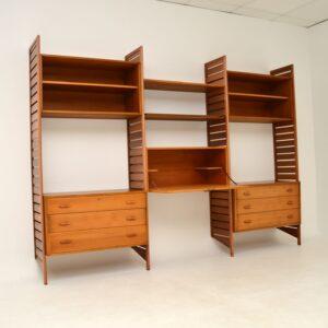Vintage Staples Ladderax Bookcase / Cabinet / Shelving in Teak