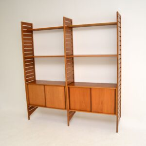 retro vintage teak ladderax wall unit bookcase
