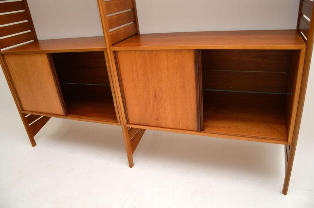 retro vintage teak ladderax wall unit bookcase
