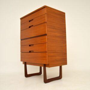 retro vintage walnut chest of drawers by uniflex