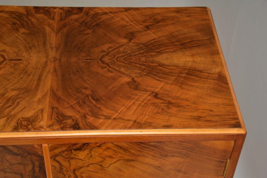 art deco figured walnut wardobe compactum