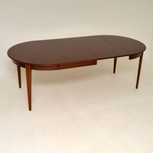 Danish Vintage Rosewood Dining Table by Gunni Omann