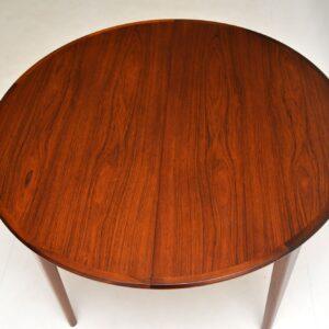 danish retro vintage rosewood dining table gunni omann junior