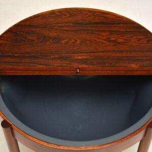 Danish Vintage Rosewood Coffee Table / Work Box