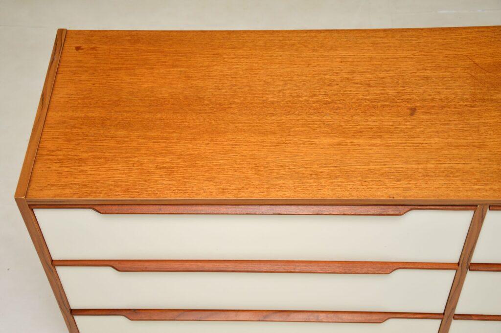 danish retro vintage teak sideboard chest of drawers