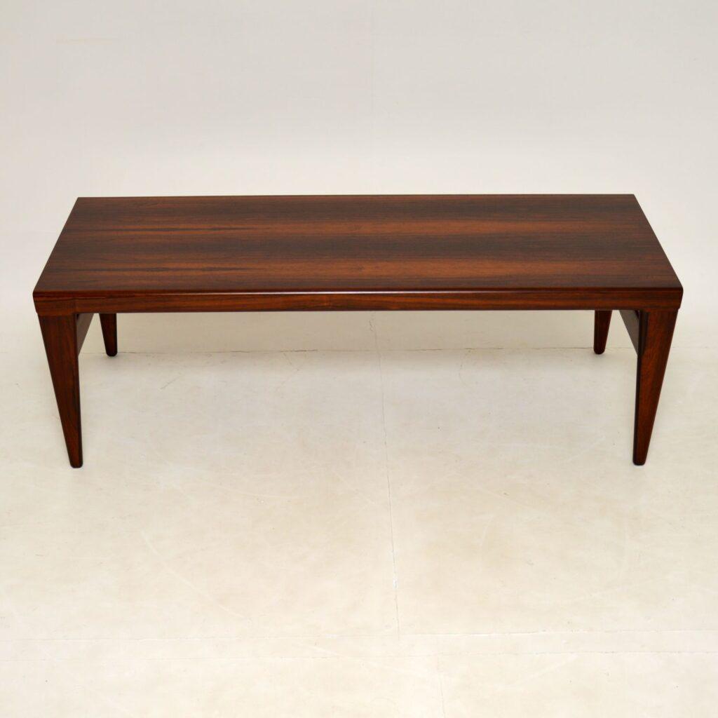 danish rosewood retro vintage coffee table illum wikkelso