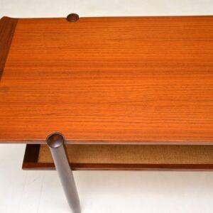 danish retro vintage teak coffee table