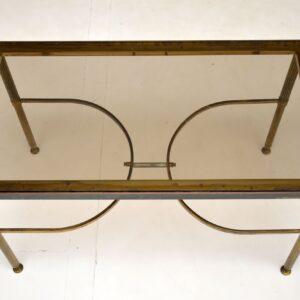 pair of retro vintage italian brass side coffee tables