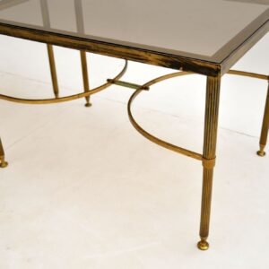 Pair of Matched Solid Brass Side Tables Vintage 1960's