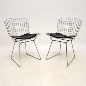 pair of retro vintage wire chairs harry bertoia knoll