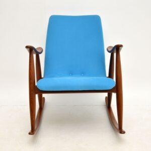retro dutch rocking chair louis van teefelen 1960s