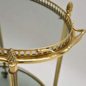 Vintage French Brass Drinks Trolley