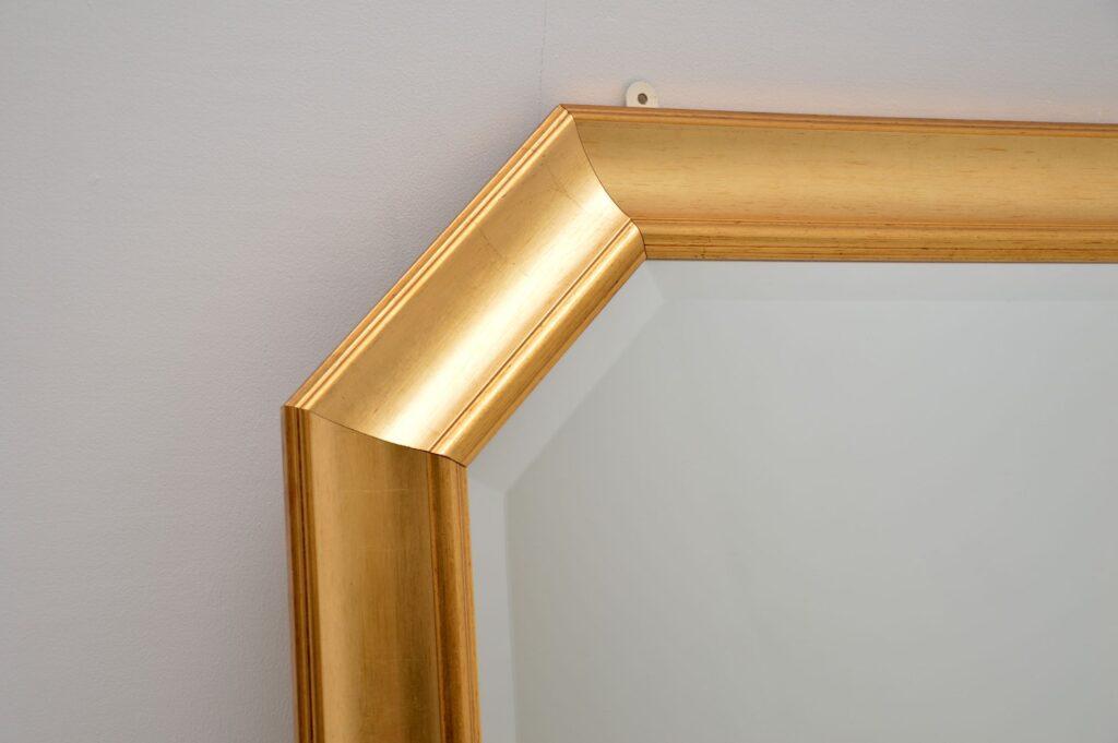retro vintage gilt wood large mirror