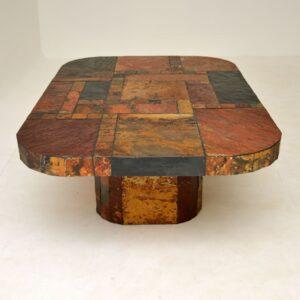 Large Swedish Stone Vintage Coffee Table