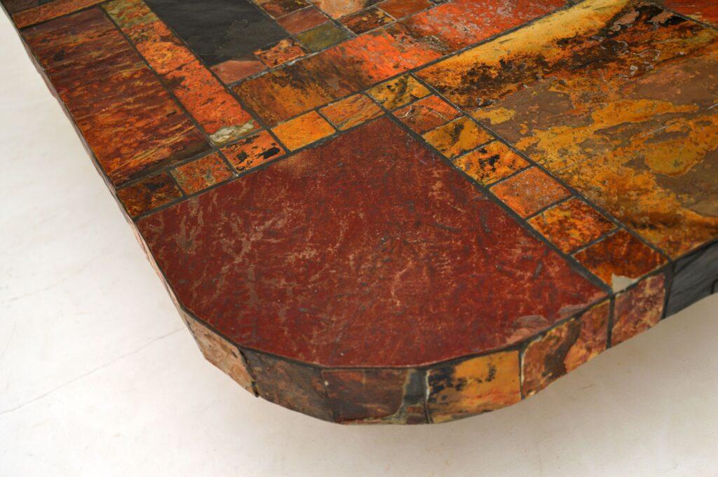 retro vintage marble stone granite coffee table swedish
