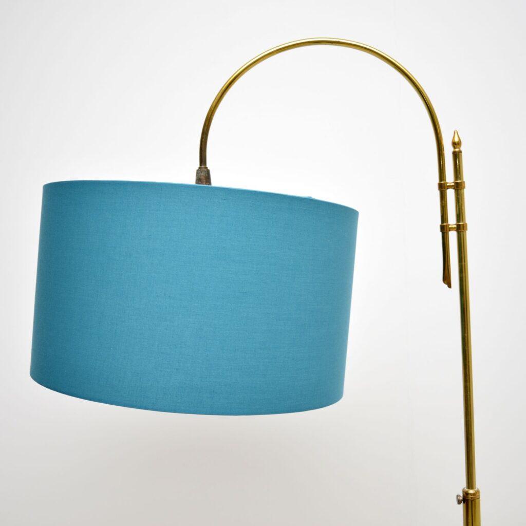 retro vintage teak brass lamp