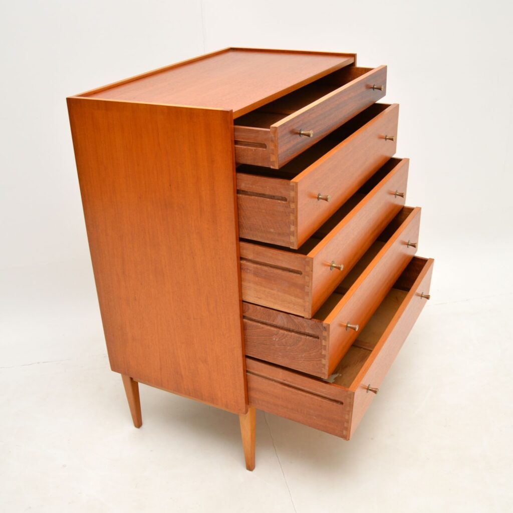 retro vintage teak rosewood chest of drawers william lawrence