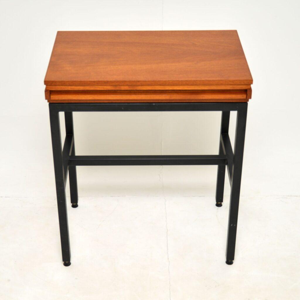 retro vintage teak side table writing computer table desk