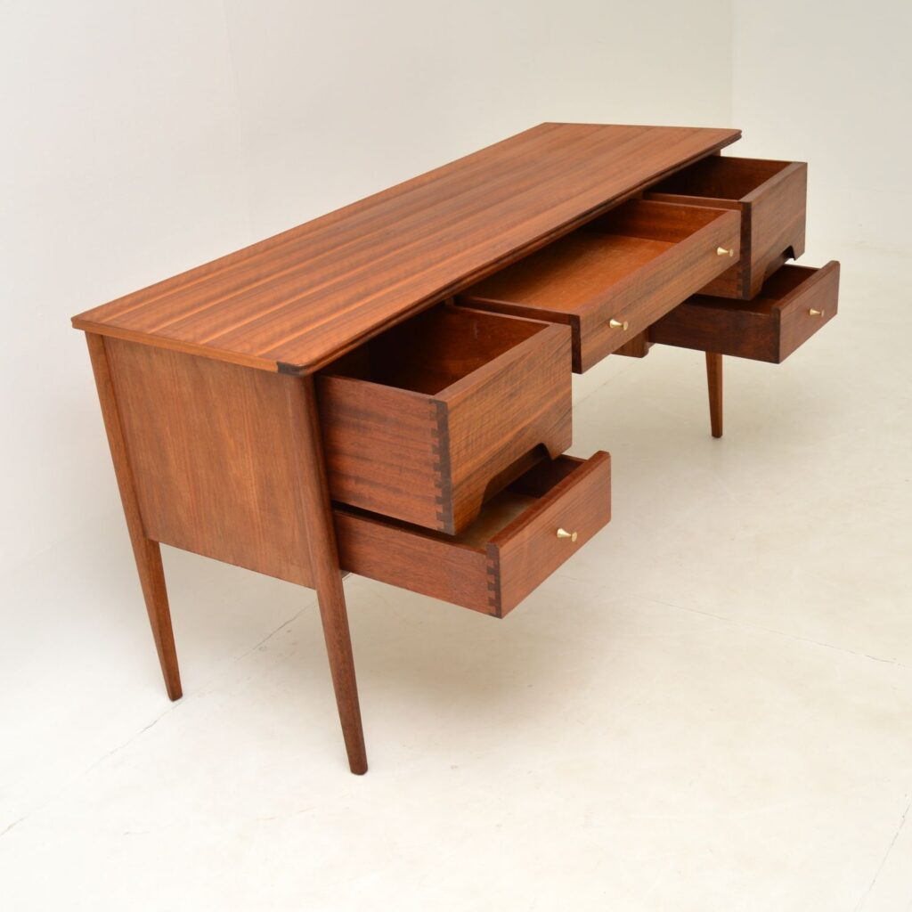 retro vintage walnut desk by younger