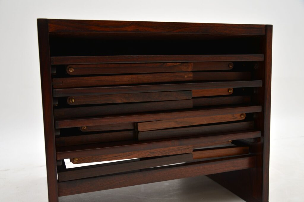 danish retro vintage rosewood nesting tables illums bolighus illum wikkelso
