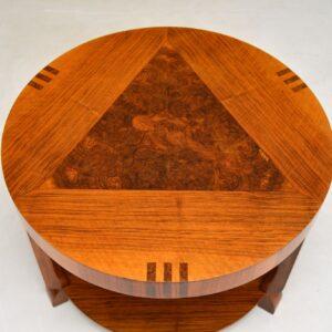 Art Deco Inlaid Walnut Coffee Table