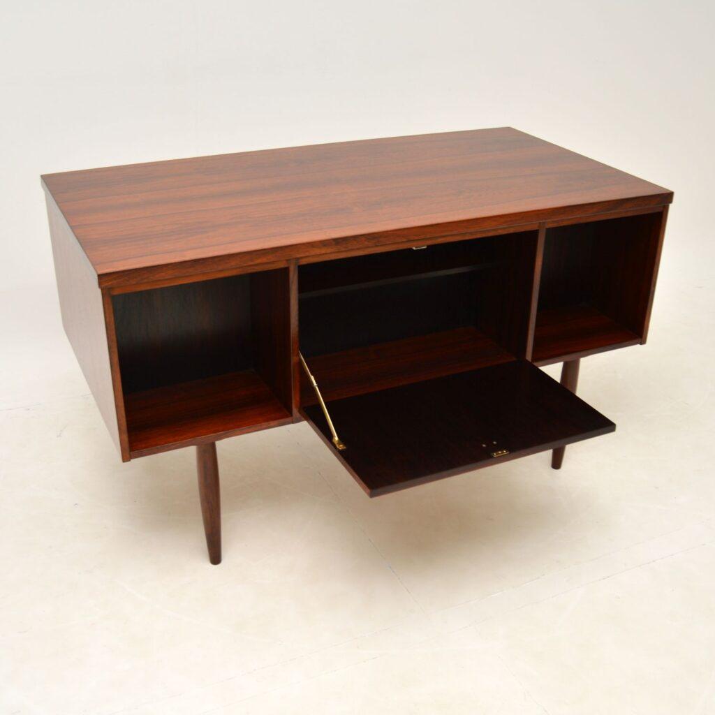 danish rosewood retro vintage desk