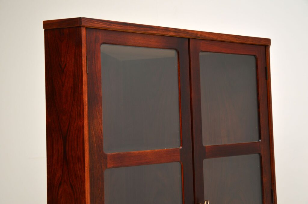 danish rosewood retro vintage corner cabinet
