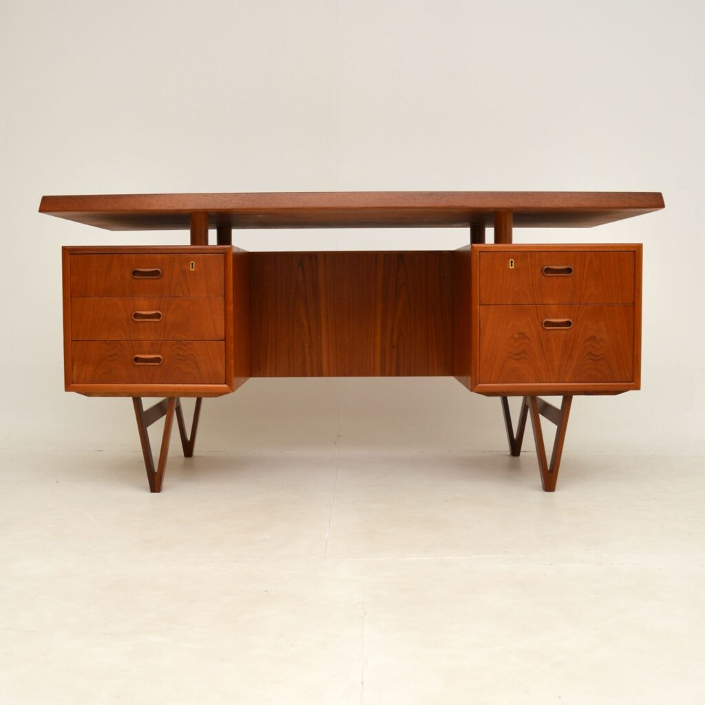 danish retro vintage teak desk kai kristiansen peter lovig