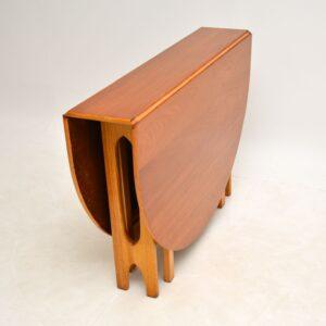 retro vintage teak danish drop leaf dining table