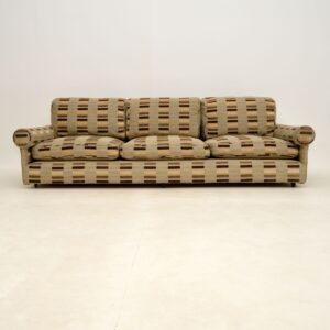 retro vintage reupholstered sofa