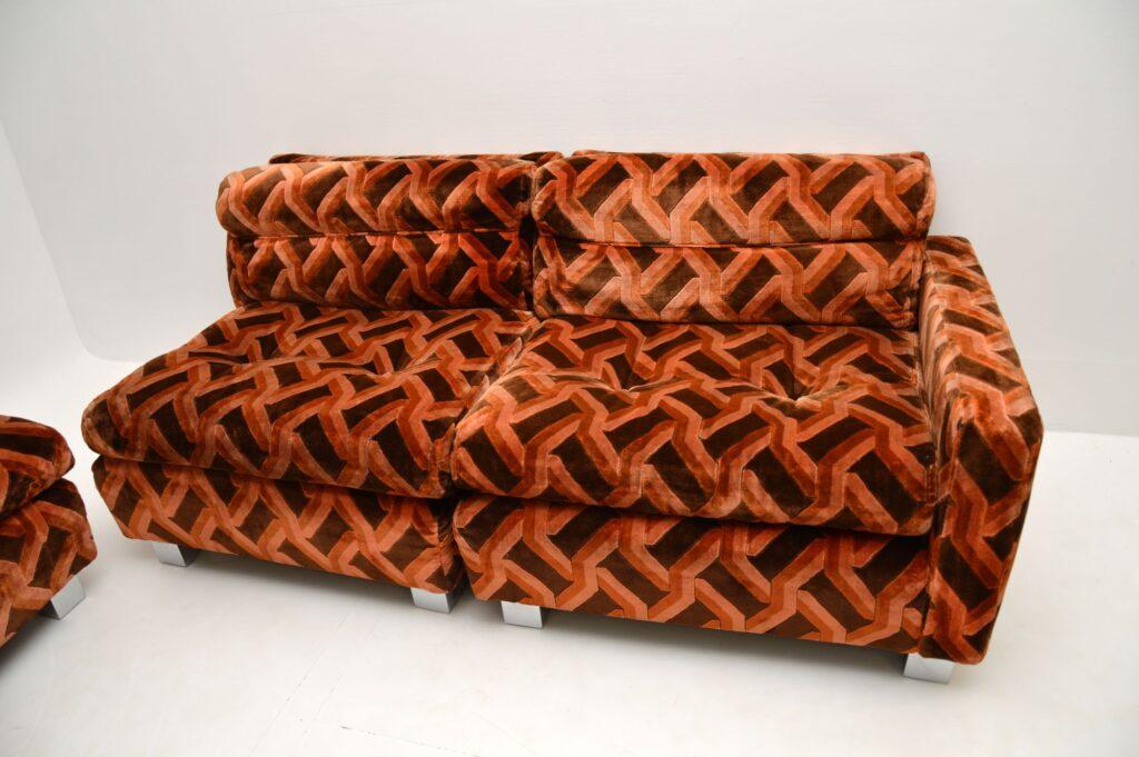 retro vintage corner sofa lounge suite 1970's