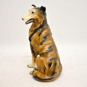 retro vintage collie dog lassie sculpture