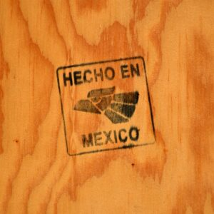 Large Mexican Tiled Mirror Vintage 1950's