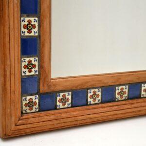 retro vintage antique mexican tiled mirror