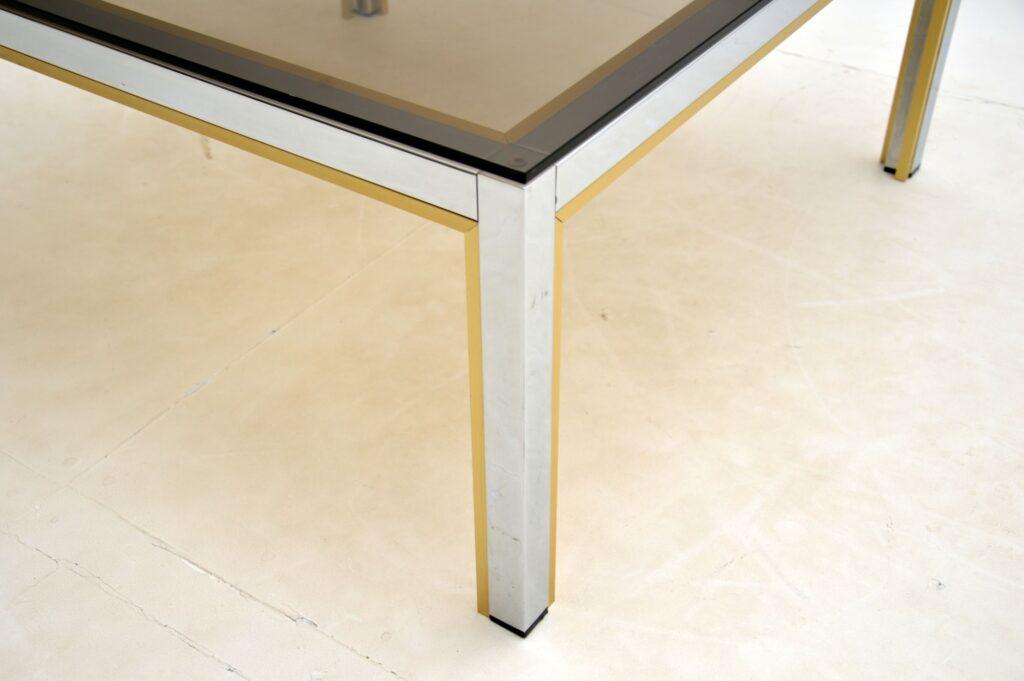 retro vintage italian chrome brass glass coffee table zevi harrods