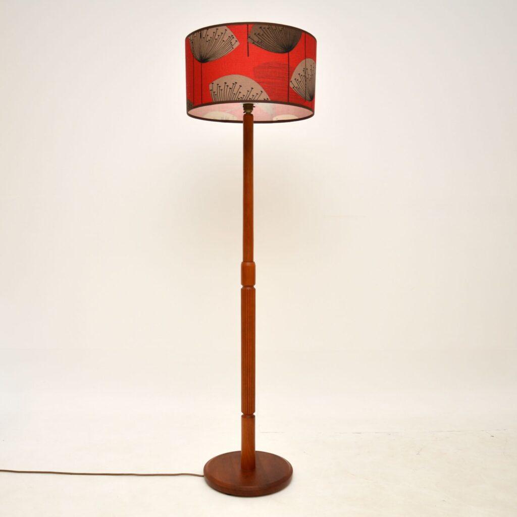 danish retro vintage teak lamp