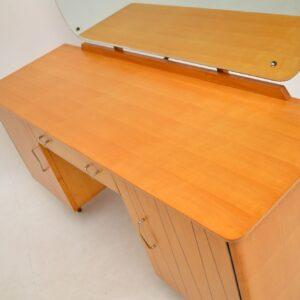 retro vintage satin wood dressing table
