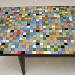 retro vintage tiled coffee table