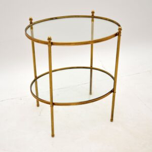 vintage retro antique brass french side table