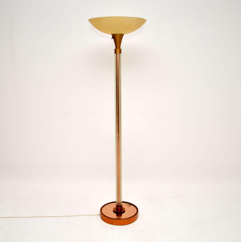 art deco retro antique vintage uplighter floor lamp
