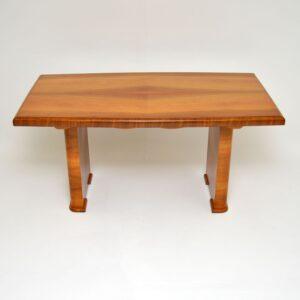 Art Deco Figured Walnut Dining Table / Desk