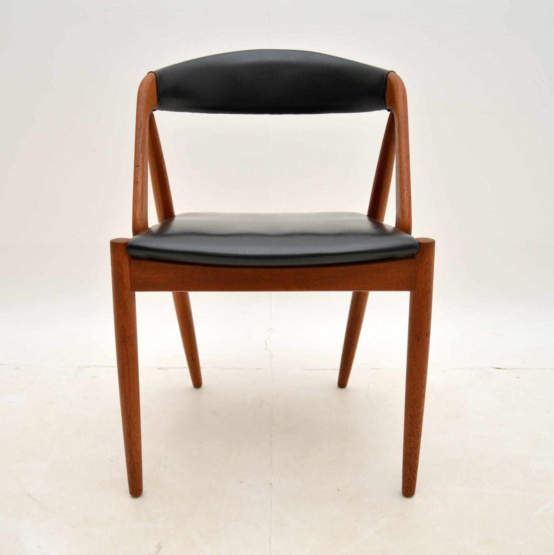 danish teak retro vintage model 31 dining chair kai kristiansen