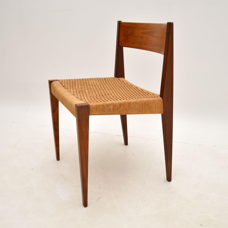 danish teak retro vintage pia chair poul cadovius