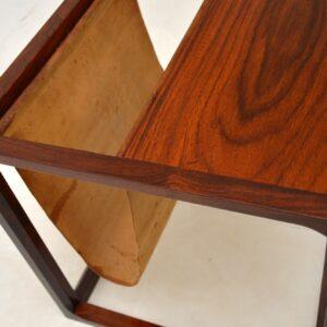 Danish Rosewood Side Table / Magazine Rack by Kai Kristiansen