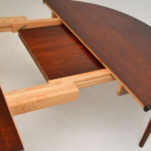 danish retro vintage rosewood dining table rosengren hansen