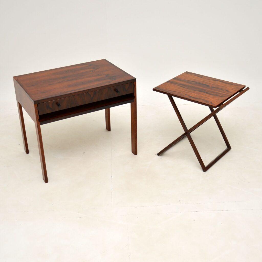 danish rosewood vintage nesting tables illum wikkelso