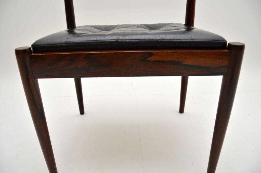 danish retro vintage rosewood dining side desk chair by kai kristiansen model 301